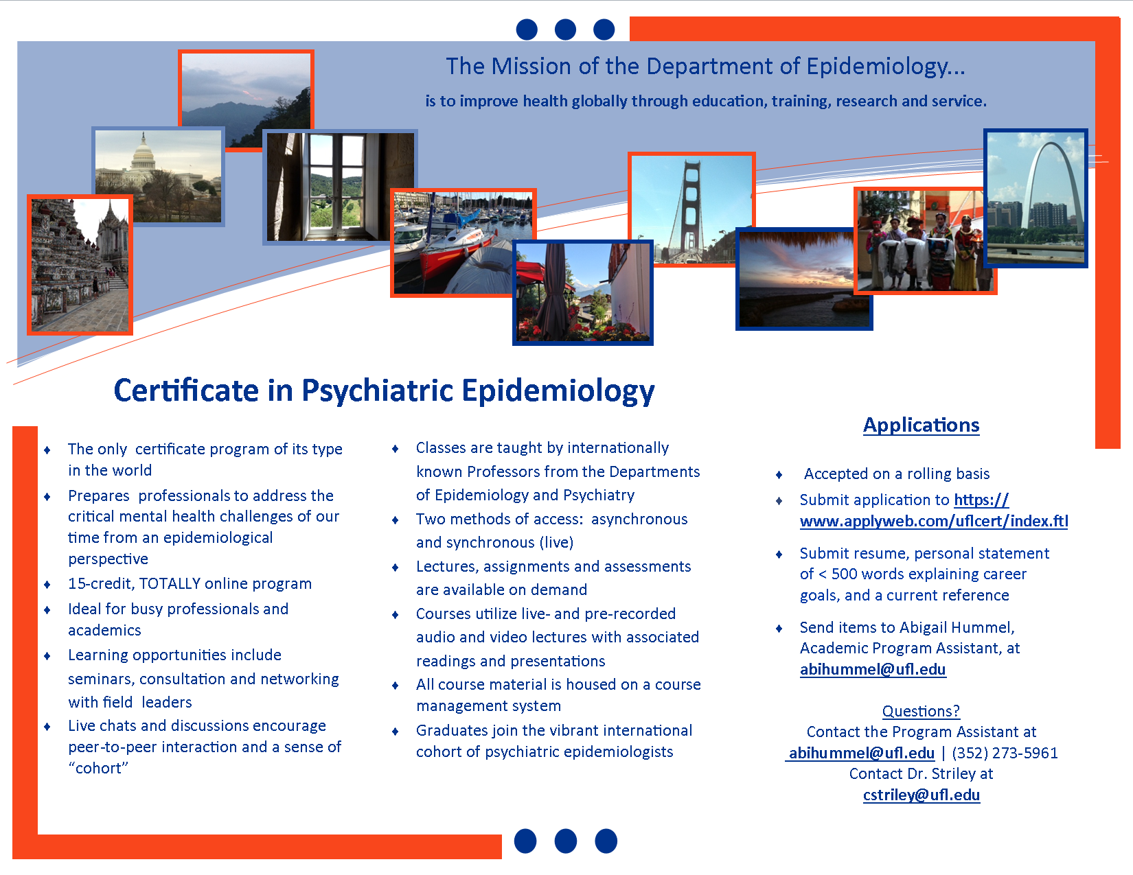 Certificate In Psychiatric Epidemiology Department Of Epidemiology