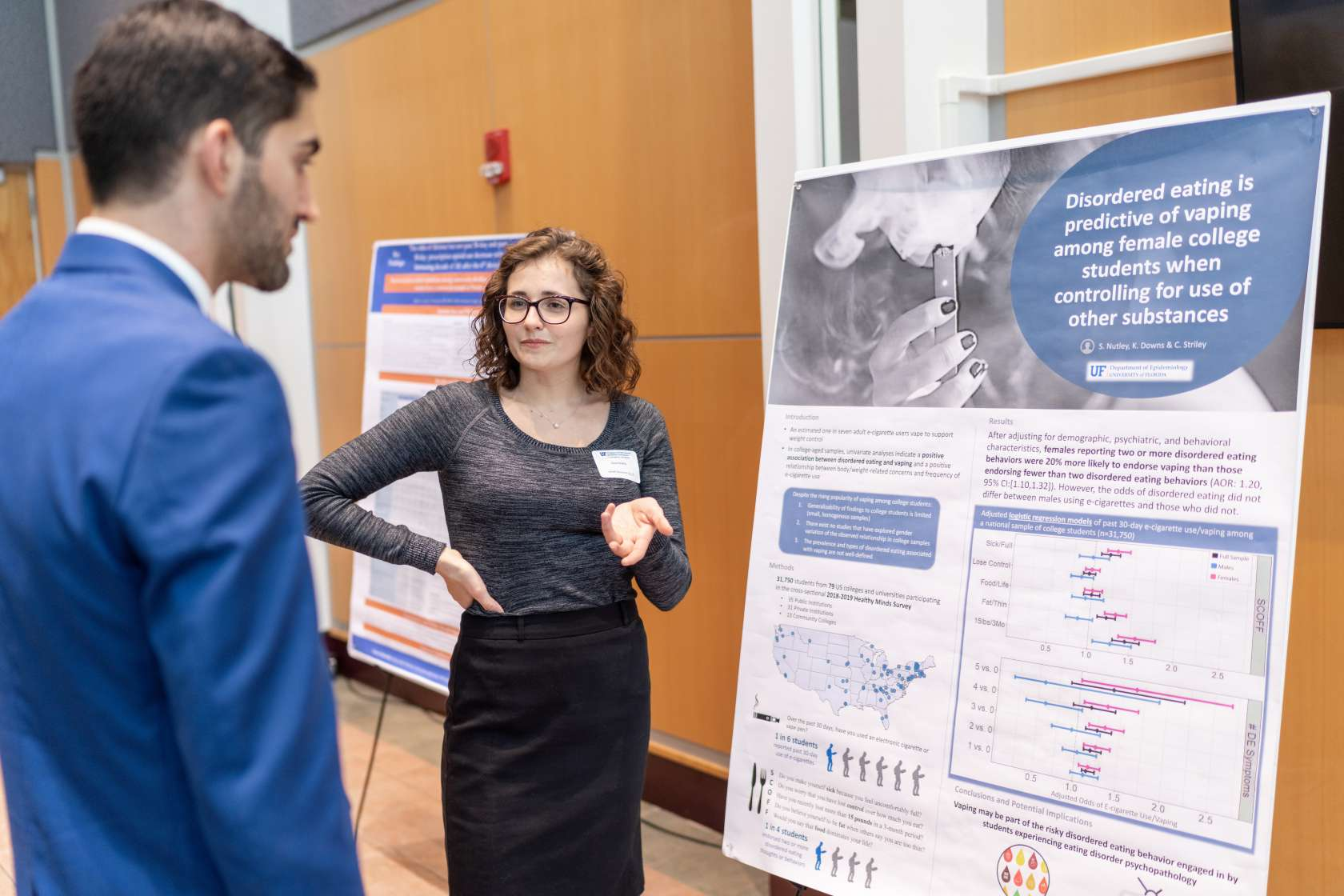 Students present at PHHP Research Day 2020