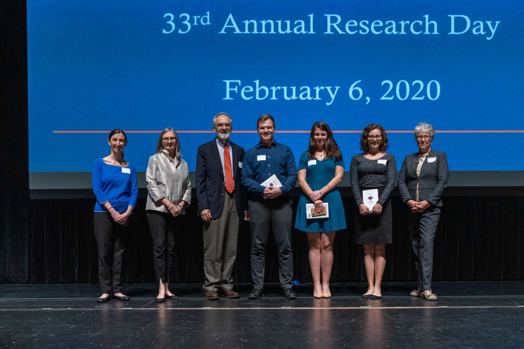PHHP Research Committee members pose with the abstract winners of PHHP Research Day 2020.