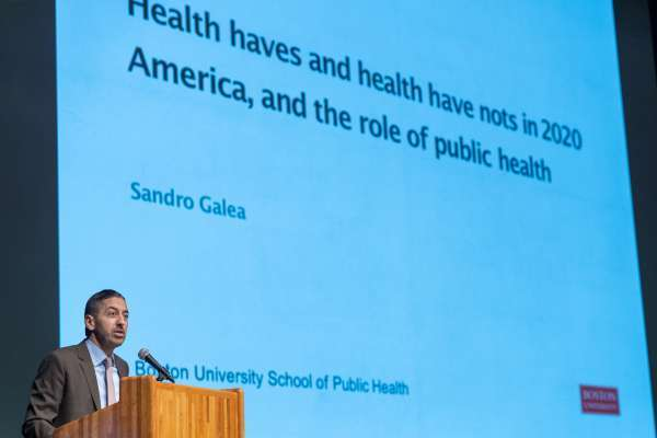 Dr. Sandro Galea presents his seminar at PHHP Research Day 2020