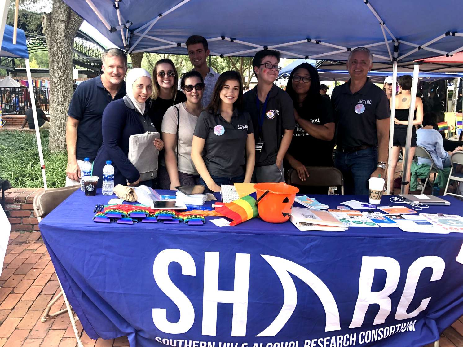 The SHARC team tables at the Gainesville Pride Festival