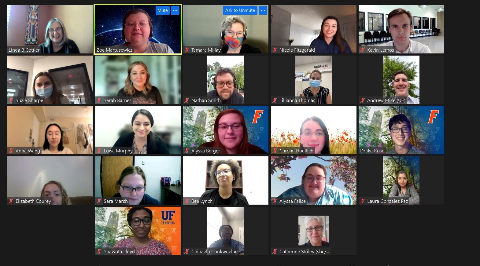 Dr. Linda B. Cottler and team meet via Zoom